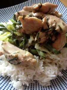 Nigel Slater's Chicken with vermouth, tarragon and cream