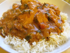 Madhur Jaffrey's Chicken in a Fried Onion Sauce