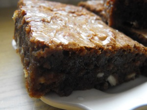 Nigella's Snow flecked Brownies
